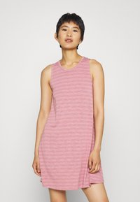 Madewell - HIGHPOINT TANK DRESS IN STRIPE - Jersey dress - weathered berry - 0