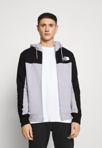 The North Face - FULL ZIP HOODIE - Bluza rozpinana - light grey heather/black - 0