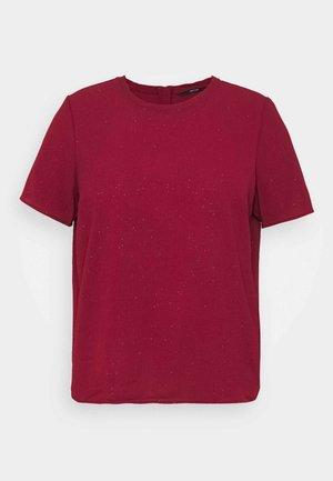 VMAYA ZIP  - Print T-shirt - cabernet