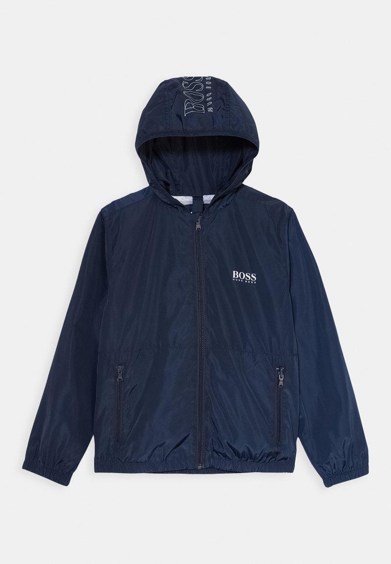BOSS Kidswear - WINDBREAKER - Lehká bunda - navy