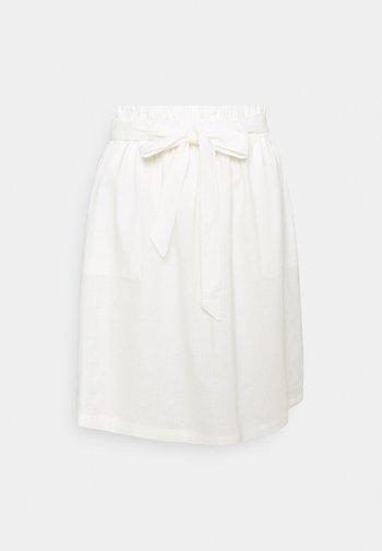 SKIRT - A-line skjørt - wool white