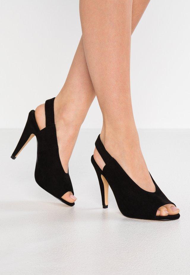 CIVINE - Peeptoe heels - black