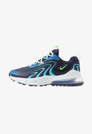 AIR MAX 270 REACT UNISEX - Sneakers laag - blackened blue/green strike/pure platinum/team royal