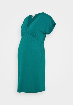 VIVE - Jersey dress - emerald green
