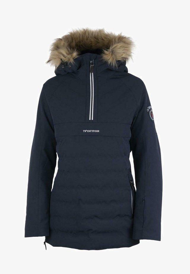 FINSE REPREVE ANORAKK D - Snowboard jacket - blekkblå