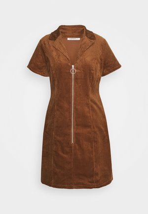 LADIES DRESS - Shirt dress - brown