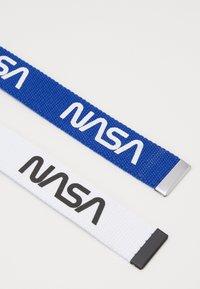 Urban Classics - NASA BELT EXTRA LONG 2 PACK - Skärp - blue/white - 2