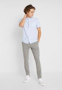Burton Menswear London - WINDOWPANE CHECK - Trousers - light grey - 1