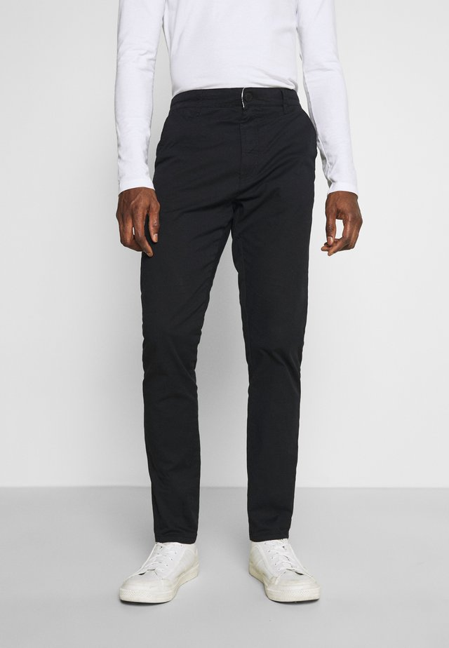 JIM LIGHT - Chinos - black