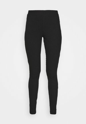ZIP SLIT PANTS - Legíny - offblack