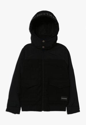 MIX MEDIA JACKET - Zimní bunda - black