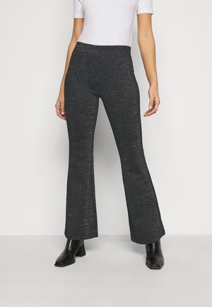 ONLPAIGE FLARED GLITTER PANT - Trousers - black