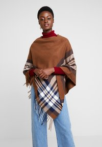 Cream - BRIELLE PONCHO - Cape - dachshund brown - 0
