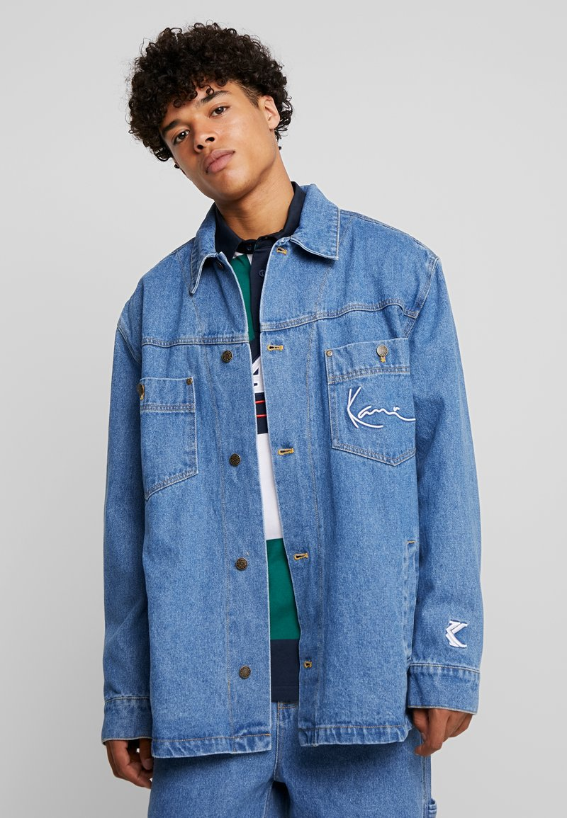Karl Kani - JACKET - Denim jacket - blue