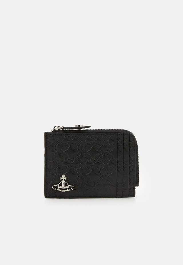 GEORGE CARD HOLDER WITH ZIP - Monedero - black