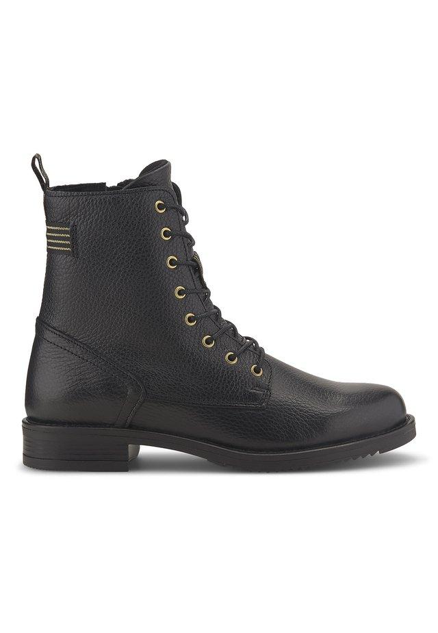 SCHNÜR-BOOTS - Lace-up boots - schwarz