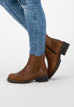 BORGEN - Ankle boots - cognac