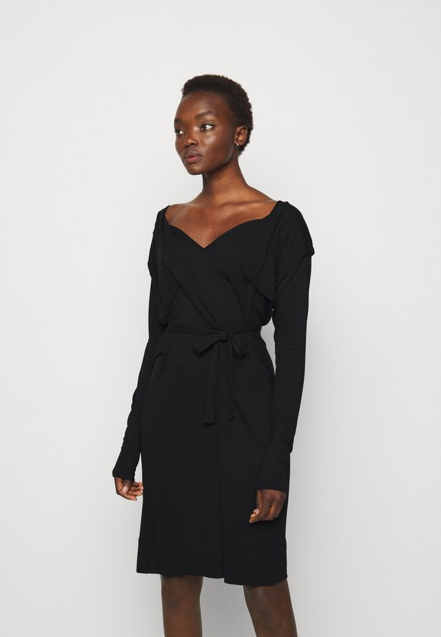 PANEGA DRESS - Trikoomekko - black