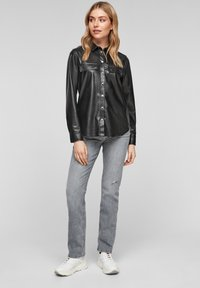 Q/S designed by - Button-down blouse - black - 1