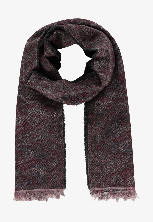 Scarf - wine red/charcoal