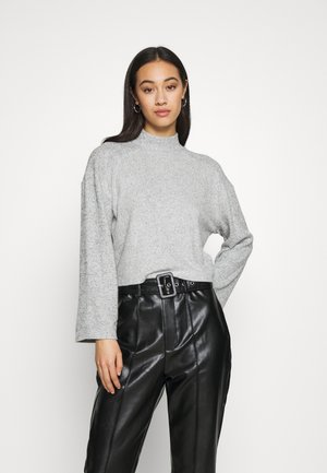 CUT SEW FUNNEL - Long sleeved top - grey