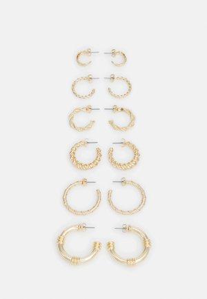 VICTORIA EARRINGS 6 PACK - Øredobber - gold-coloured