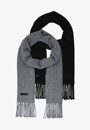 ONSCARLO SCARF 2 PACK - Scarf - black/medium grey melange