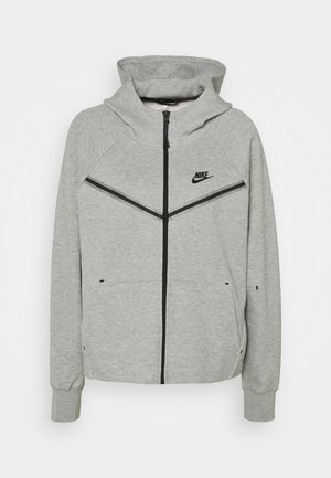 Zip-up hoodie - grey heather/black