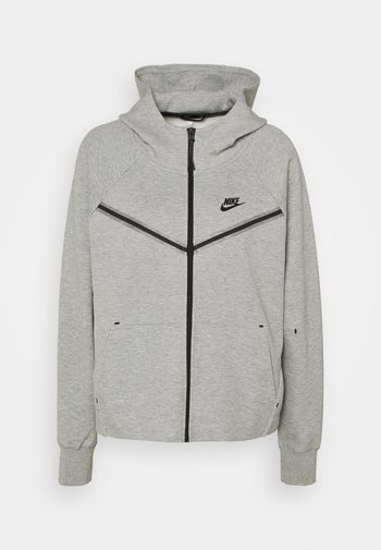 Mikina na zip - grey heather/black