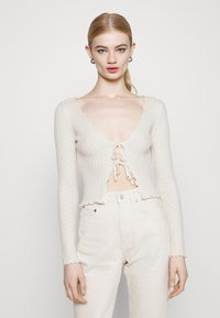 BDG Urban Outfitters - NOORI TIE FRONT - Cardigan - cream - 0