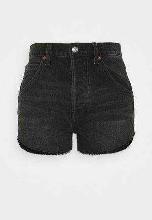 TALIESIN CUT OFF - Szorty jeansowe - washed black