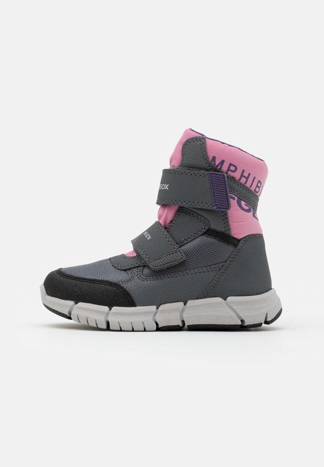 FLEXYPER GIRL - Winter boots - grey/rose