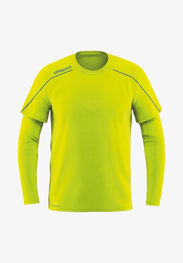 Long sleeved top - gelbblau