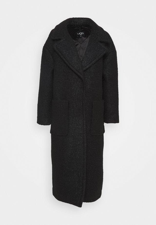 HATTIE LONG OVERSIZED COAT - Zimní kabát - black