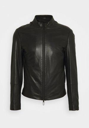 CABAN - Leather jacket - nero