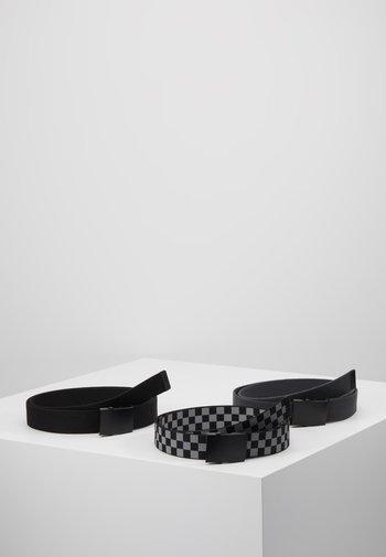 BELTS TRIO 3 PACK - Belt - grey/black