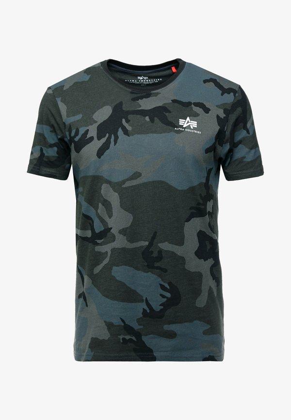 Alpha Industries T-shirt z nadrukiem - black/czarny melanż Odzież Męska HTUG