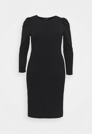 CURVE RUCHED SLEEVE BODYCON - Jerseykjoler - black