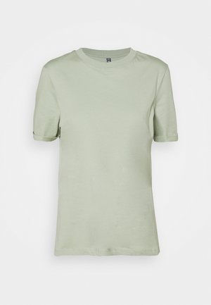 PCRIA FOLD UP SOLID TEE  - T-shirts basic - desert sage