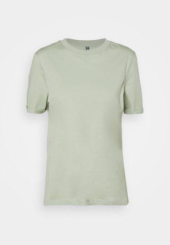 PCRIA FOLD UP SOLID TEE  - T-shirt basic - desert sage