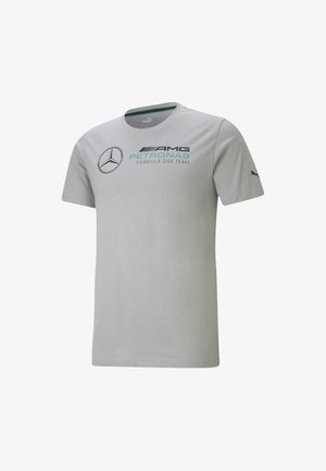 T-shirt med print - silver