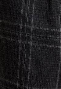 PULL&BEAR - DUNKELGRAUE KARIERTE HOSE, ENG GESCHNITTEN 05670526 - Kalhoty - black - 6