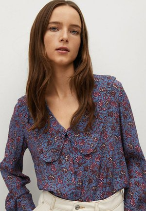GRETA2 - Button-down blouse - bleu