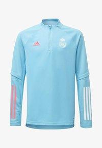 adidas Performance - REAL MADRID AEROREADY FOOTBALL PULLOVER - Long sleeved top - turquoise - 0