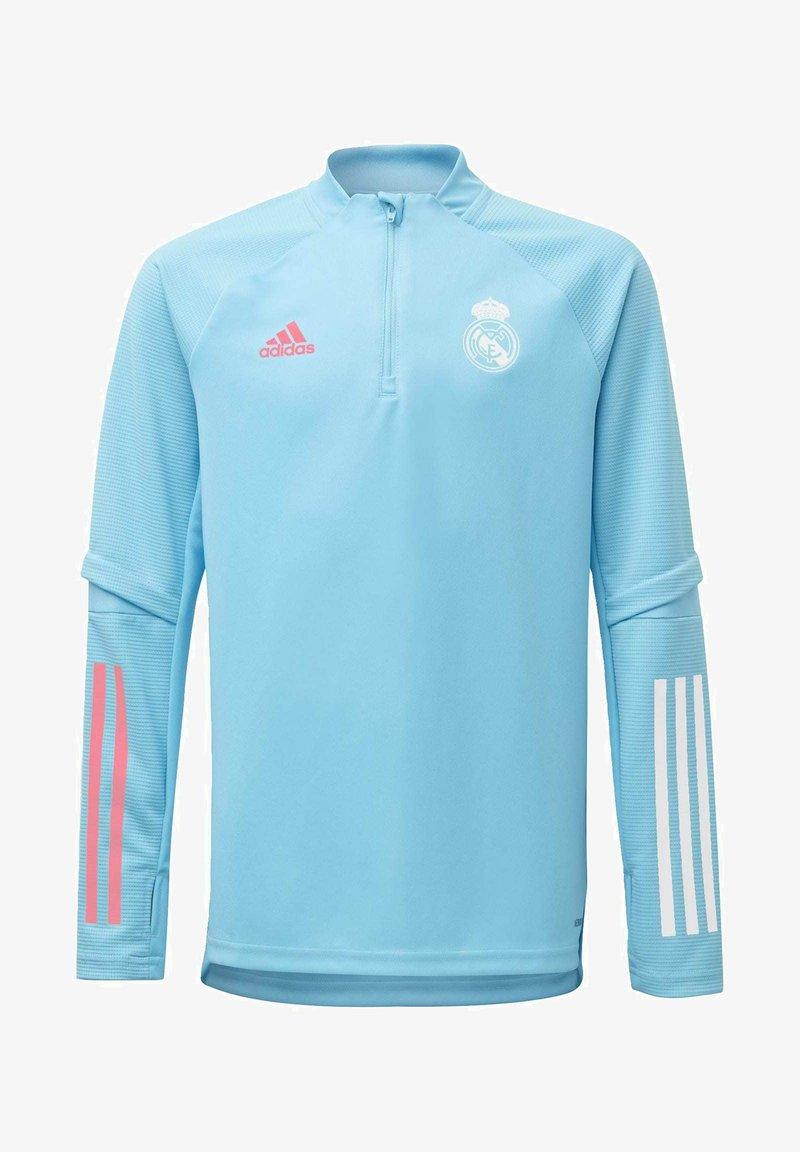 adidas Performance - REAL MADRID AEROREADY FOOTBALL PULLOVER - Long sleeved top - turquoise