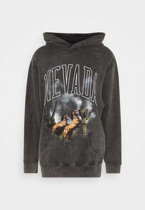 ARIZONA SCREEN HOODIE - Hættetrøjer - charcoal