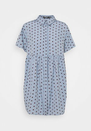 SHIRT SMOCK DRESS POLKA - Vestido camisero - blue