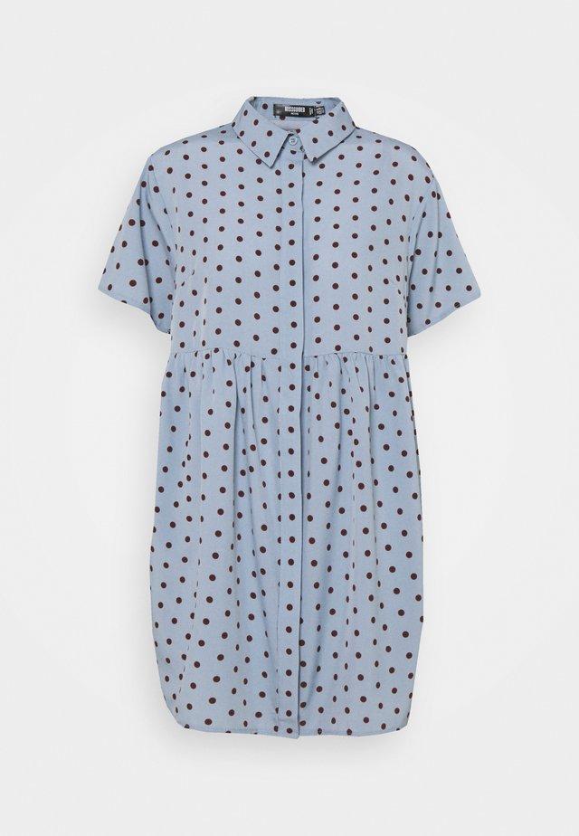 SHIRT SMOCK DRESS POLKA - Sukienka koszulowa - blue