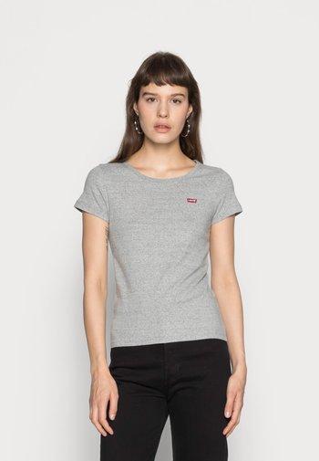 TEE 2 PACK - Basic T-shirt - white/smokestack heather
