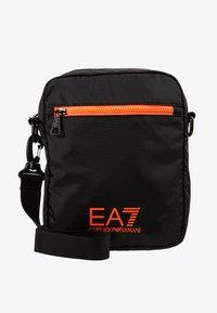 EA7 Emporio Armani - Axelremsväska - black / neon / orange - 5